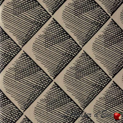 """Quadratis"" Coupon 65x110cm fabric furniture Thevenon"