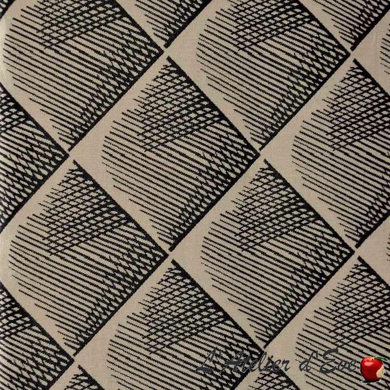 """Quadratis"" Coupon 65x110cm tissu ameublement jacquard Thevenon"