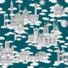 """""""Sur un nuage"""" Coupon 65x100cm tissu ameublement coton Thevenon"""