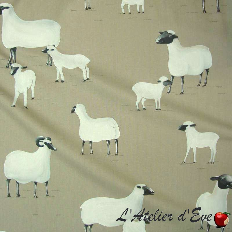 """""""On a cloud"""" Coupon 65x100cm cotton upholstery fabric Thevenon"""