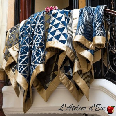"""Giorgio"" Plaid squared jacquard fabric Thevenon"