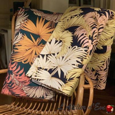 """""""Coco"""" Tissu coton fleuri grande largeur Thevenon 5 coloris"""