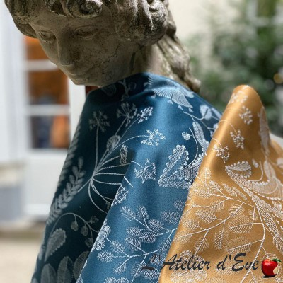 """Phoenix"" jacquard Tissu fleurs Thevenon"