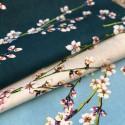 """""""Fleurs d'amandier"""" Remise 30% Rouleau tissu coton grande largeur Thevenon"""