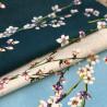 Fleurs d'amandier Tissu beige coton grande largeur Thevenon