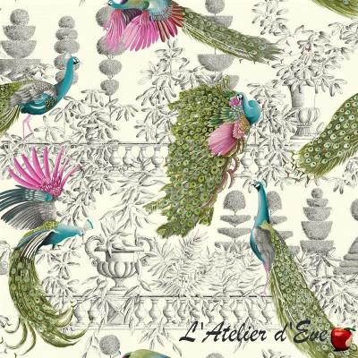 """Jardin merveilleux"" Coupon 140x280cm tissu ameublement Thevenon"