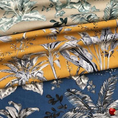 """Life in blue"" Thevenon wide-width cotton fabric"