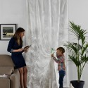 """Sarthi"" Sheer curtain by the meter Aquaclean Casal"