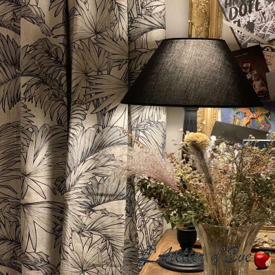 """Coco"" linen Curtain Made in France Thevenon"