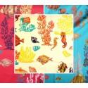 Sous la mer 3 coloris Rouleau tissu ameublement coton L.150cm Theme mer Thevenon La piece ou demi piece