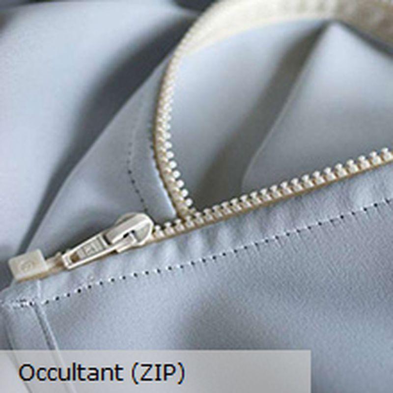 Doublure occultante: A zipper sur les rideaux Thevenon