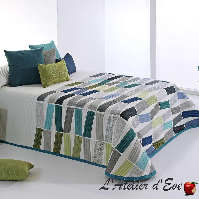 """""""Celso"""" Couvre-lit bleu-vert polycoton lavable Reig Marti C.03"""