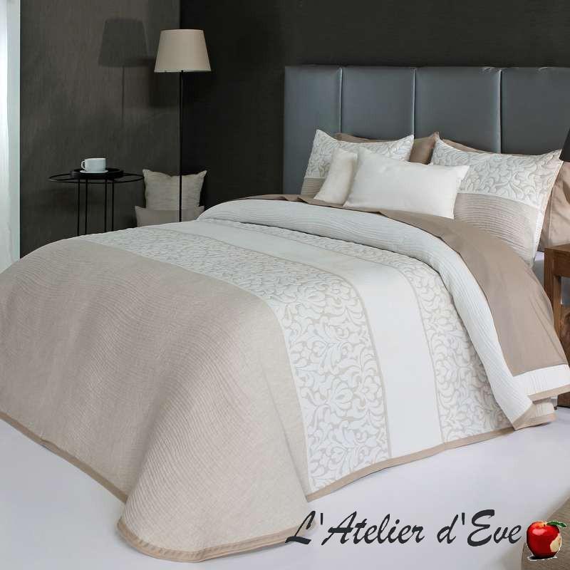 """""""Cream"""" Coussin beige-ecru polycoton 50x70cm lavable Reig Marti C.01"""