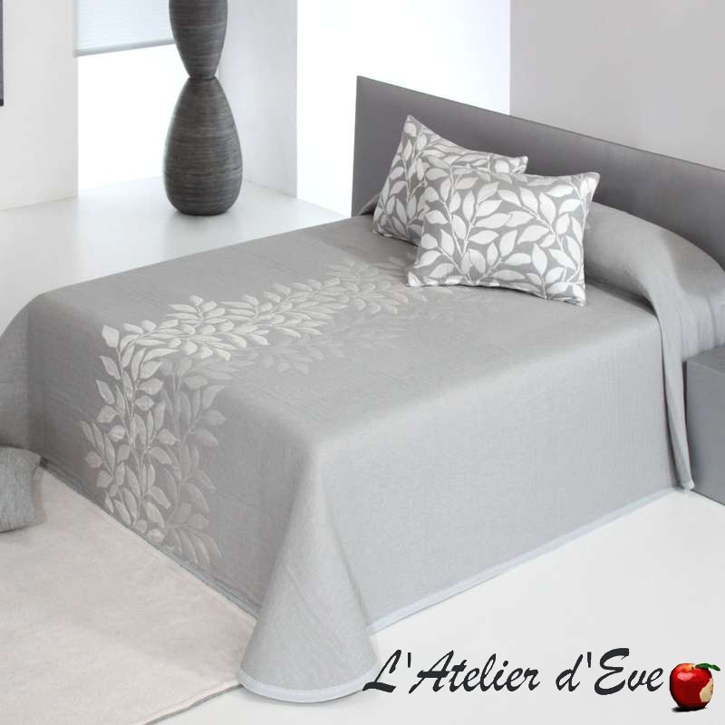 """""""Perline"""" Couvre-lit gris polyester lavable Reig Marti C.08"""