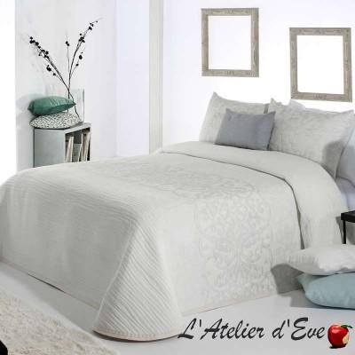 """""""Pompey"""" Couvre-lit blanc polycoton lavable Reig Marti C.00"""