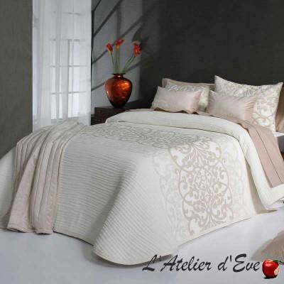 """Pompey"" Washable polycotton natural bedspread Reig Marti C.00"
