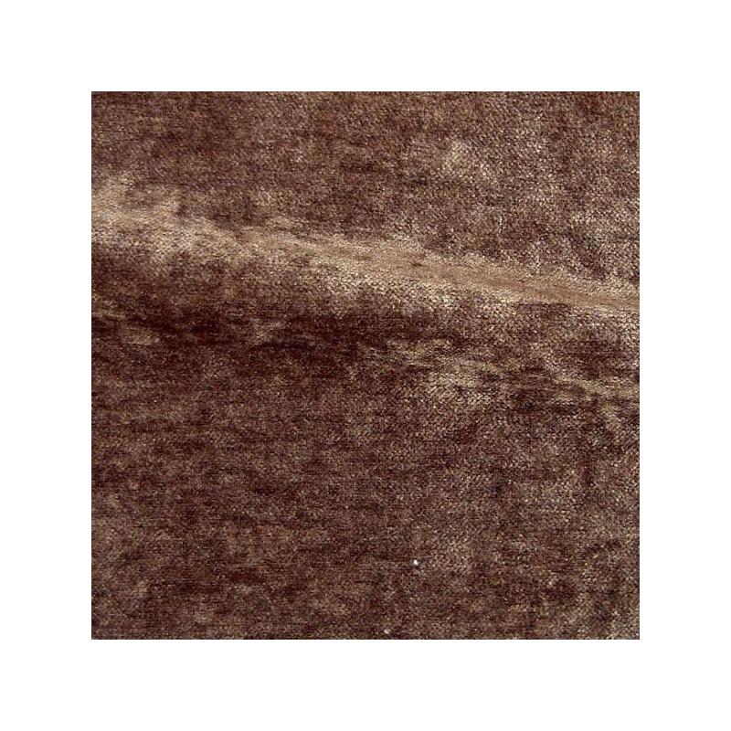 Tissu velours lavable réversible Cosy chocolat