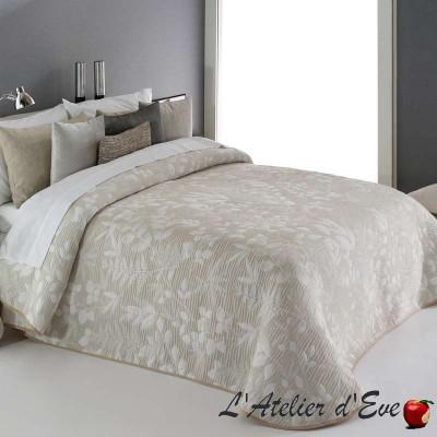 """""""Octavia"""" Promotion couvre-lit beige-écru fleuri polyester lavable Reig Marti C.01"""