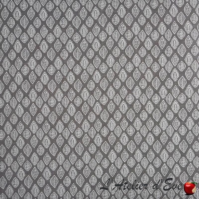 """""""Millgate"""" Tissu gris graphite jacquard fleuri Tresco Prestigious Textiles"""