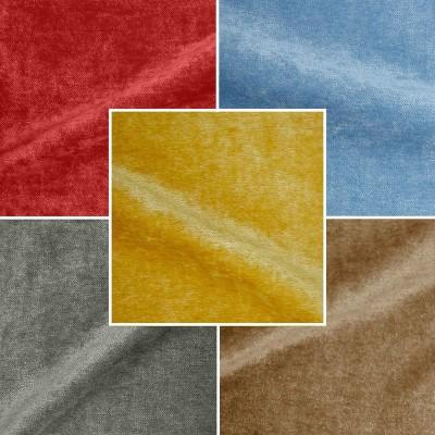Cosy A 16 coloris Tissu ameublement velours lavable réversible grande largeur