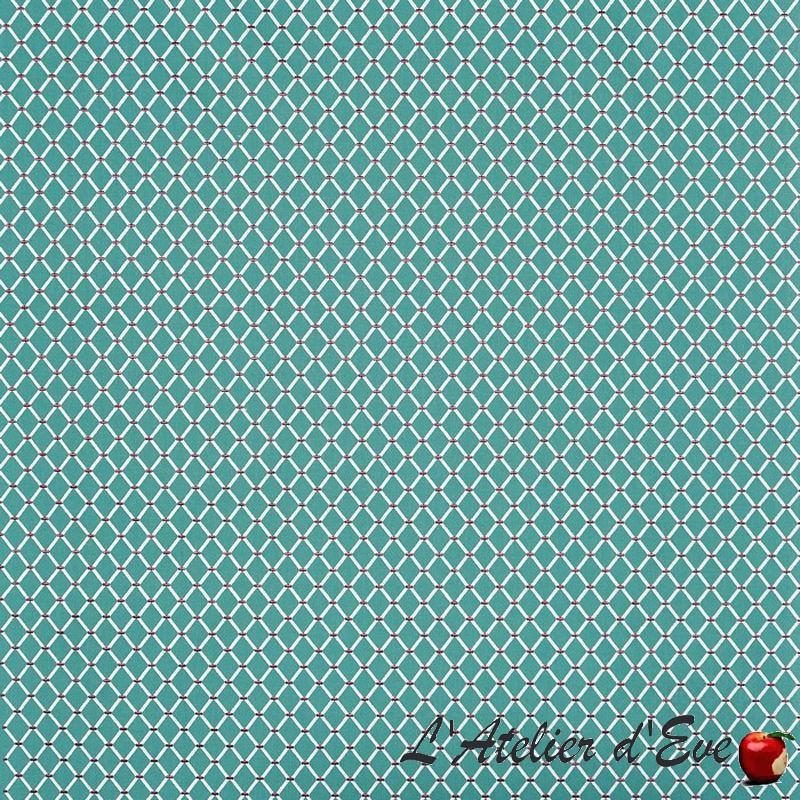 """""""Fenton"""" Tissu bleu lagon brodé Tresco Prestigious Textiles"""