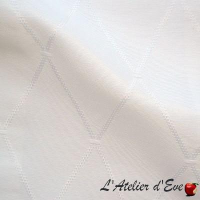 "- ""Dandy"" Coupon 100x280cm tissu ameublement blanc Thevenon"