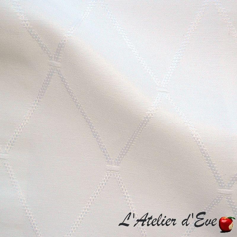 """Dandy"" Tissu blanc grande largeur nappe Thevenon"