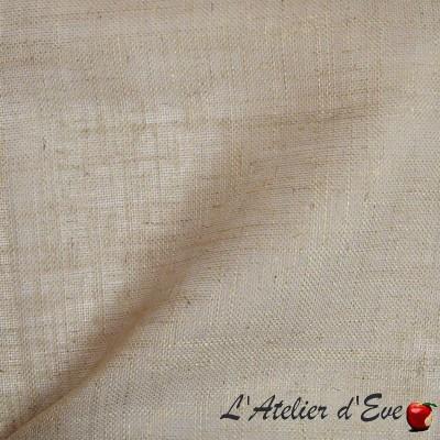 """Etamine"" Coupon 150x300ccm sheer taupe veil linen Thevenon"