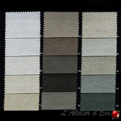 """Secura B1 1316"" Fire retardant dimout fabric M1 wool look Bautex"
