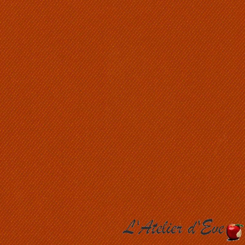 """""""Oscuratex 1111"""" Tissu orange satin occultant non feu M1 Bautex"""