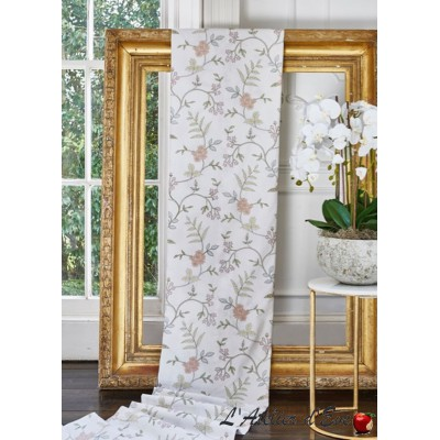 """Bella"" Tissu ameublement brodé fleuri Bloom Prestigious Textiles"
