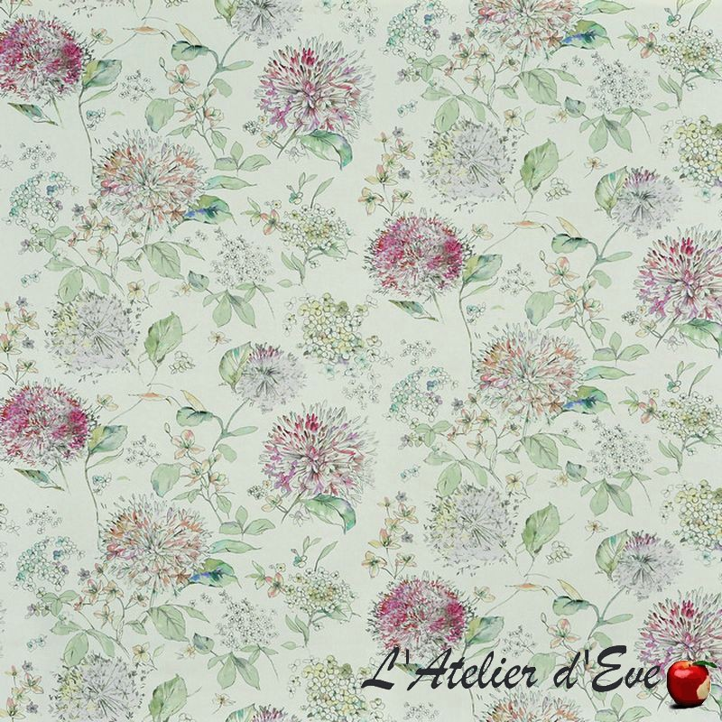 """Lila"" Tissu blossom ameublement coton fleuri Bloom Prestigious Textiles"