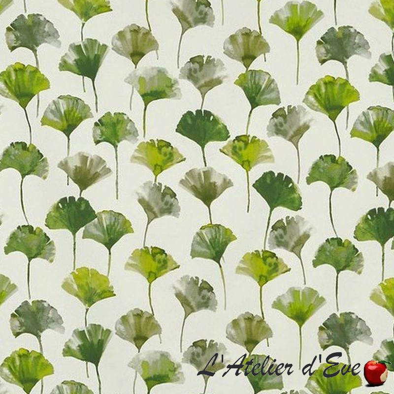 """Camarillo"" Tissu cactus ameublement coton fleuri Malibu Prestigious Textiles"