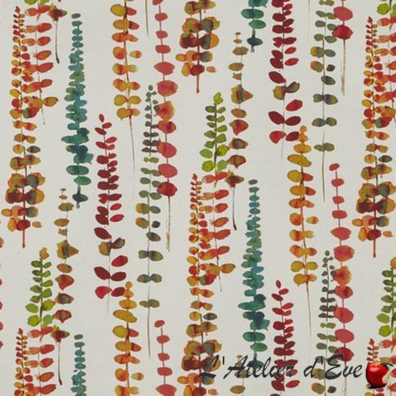 """Santa Maria"" Tissu rumba ameublement coton fleuri Malibu Prestigious Textiles"
