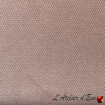 """Whitney"" parme Coupon 100x140cm velours anti-tache ameublement lavable"