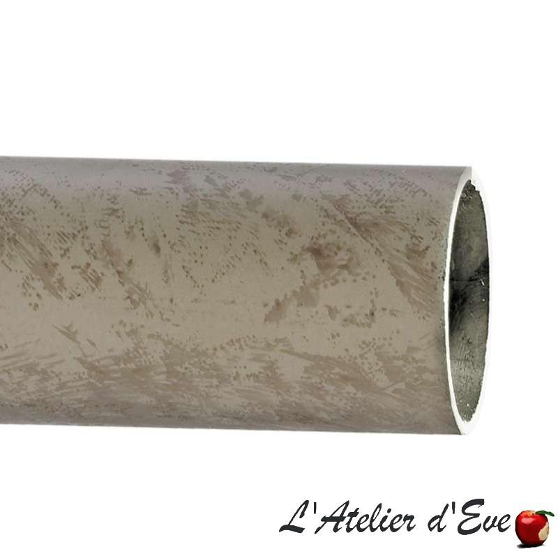 """Iliade"" Tube gris mastic 45 tringles à rideaux tringlerie Houlès"