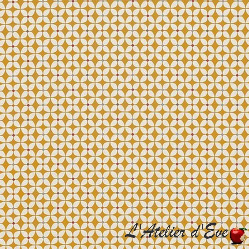 """Zap"" Toile cirée butterscotch finition brillante Sketch Prestigious Textiles"