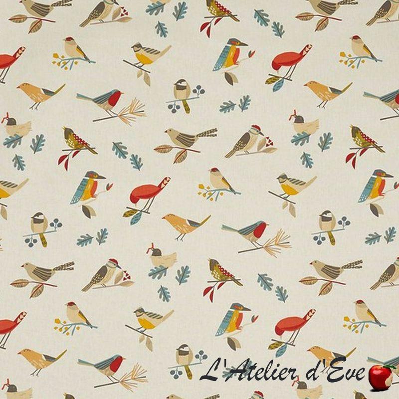 """Bertie"" Toile cirée butterscotch finition brillante Sketch Prestigious Textiles"