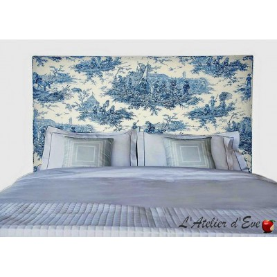 """Water Story"" Vintage ""Thevenon"" padded headboard"