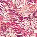 "- ""Palm springs"" rose Coupon 100x280cm tissu ameublement Thevenon"