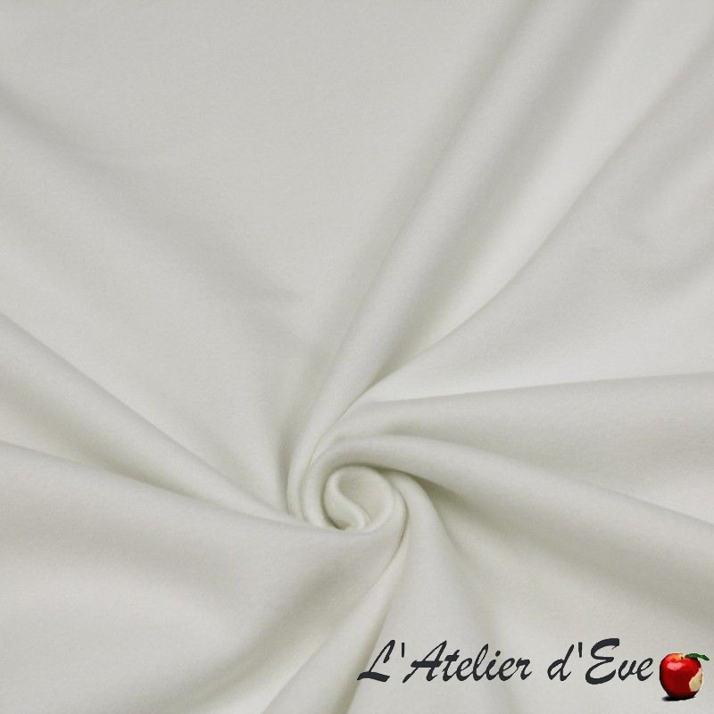 """Secura B1 1505/140"" Tissu velours blanc non feu M1 Bautex"