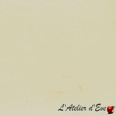 """""""Duchesse"""" blanc cassé Coupon 150x145 cm tissu velours Thevenon"""