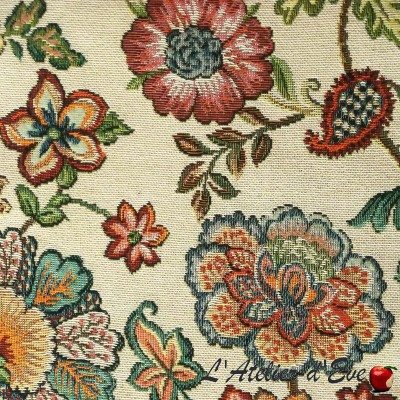 """""""Bartok"""" Floral embroidered canvas with Casal furnishings"""