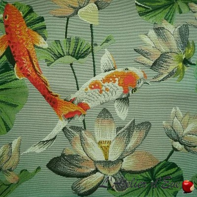 """""""Palmeraie"""" Exotic embroidered canvas with Casal furnishings"""