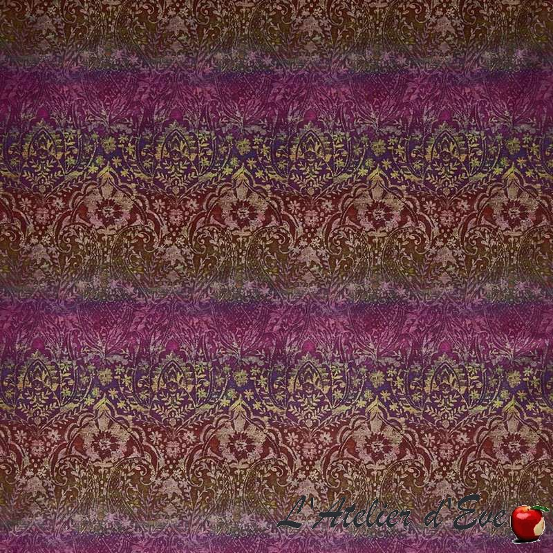 """Fable"" Cassis-998-Tissu velours ameublement Journey Beyond Prestigious Textiles"