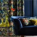 """""""Bengal Tiger"""" Tissu velours fleuri ameublement Journey Beyond Prestigious Textiles"""