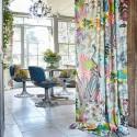 """Hidden Paradise"" Tissu velours fleuri ameublement Journey Beyond Prestigious Textiles"