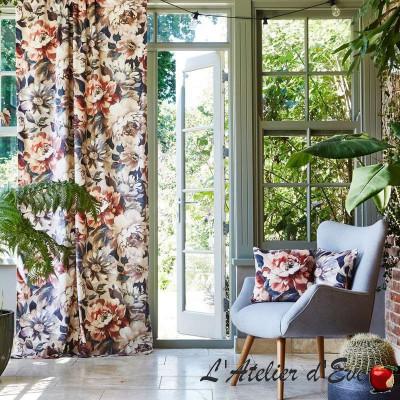 """""""Secret Oasis"""" Tissu velours ameublement fleuri Prestigious Textiles"""