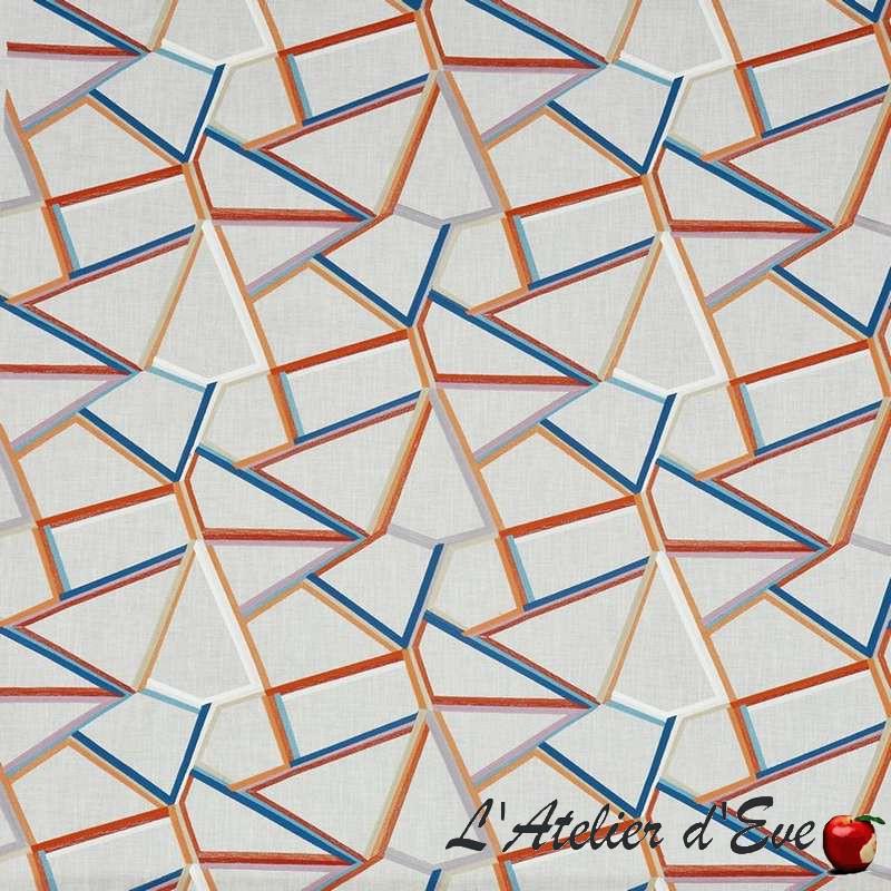"""Tétris"" auburn Tissu ameublement collection Abstract Prestigious Textiles"