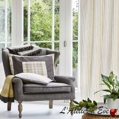 """""""Woodmere"""" Tissu ameublement coton rayures Hamptons Prestigious Textiles"""